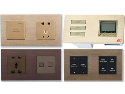 酒店两联体可编程智能轻触面板