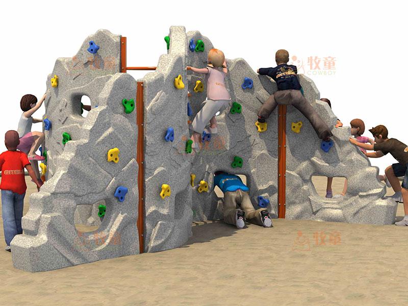厂家供应儿童户外大型游乐器材攀岩设施 多功能组合攀岩墙