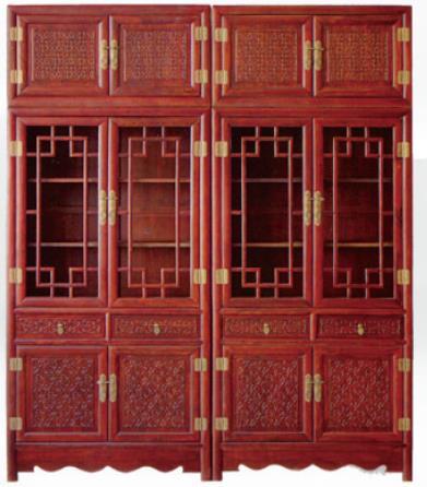 红木,榆木顶箱柜