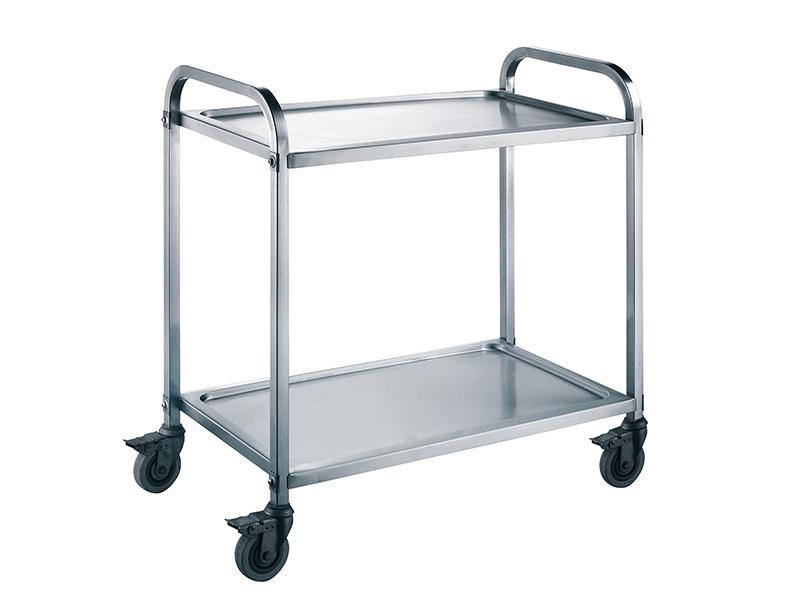 推拉餐车,不锈钢二层餐车,酒店不锈钢餐车收碗车,餐车厂家