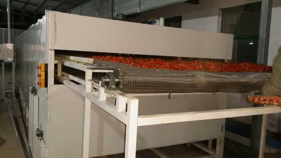 辣椒烘干机农产品烘干机网带式辣椒脱水烘干机