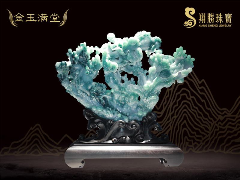翡翠摆件品牌-翡翠摆件生产公司-推荐翔勝文化