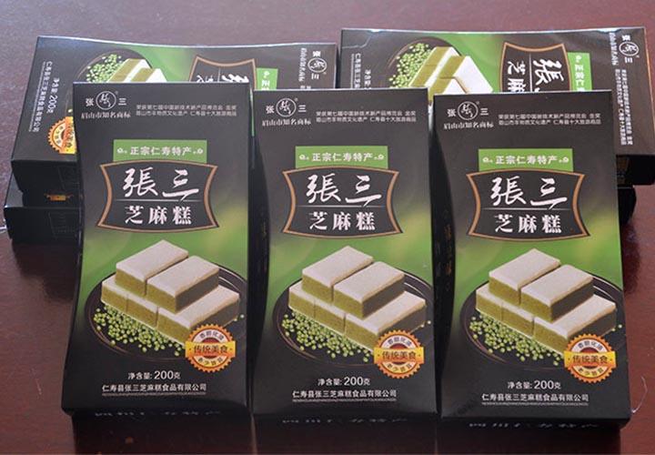 正宗仁寿特产绿豆芝麻糕