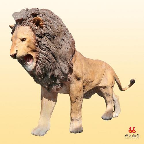 仿真动物雕塑价格_简众盟专业供应狮子雕塑