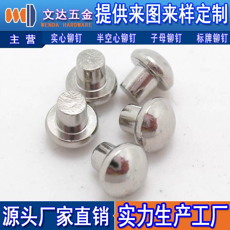 广东好用的铁铆钉供应 平头半空心铁铆钉