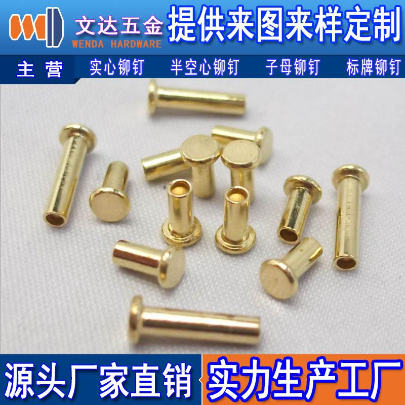 平头半空心铁镀锌铆钉 价位合理的半空心铆钉供销