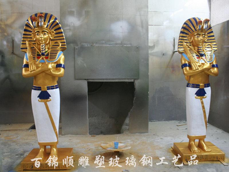 树脂玻璃钢埃及人雕塑人物 阿努比斯人物法老雕塑浮雕靠墙摆件
