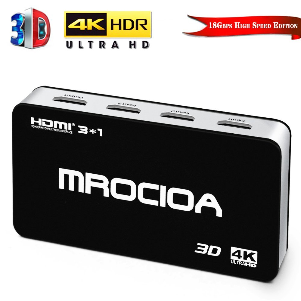经典优质4K高清HDMI3进一出HDMI切换器