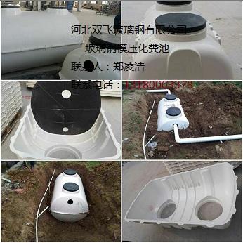 模压玻璃钢化粪池 新农村改厕专用化粪池
