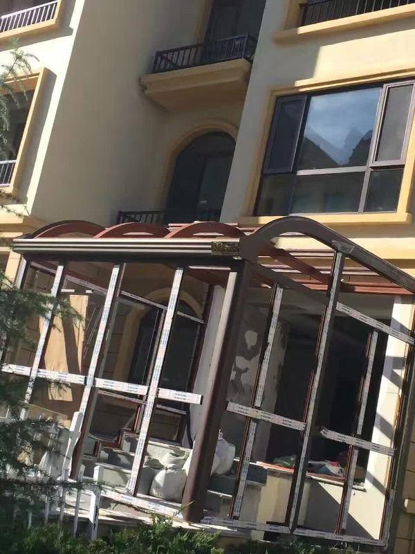 【晶彩门窗】烟台封包阳台 烟台阳光房 烟台门窗