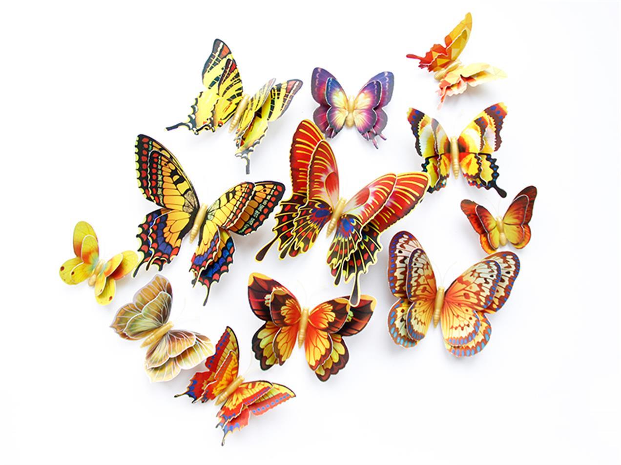仿真蝴蝶双层金色套装仿真蝴蝶