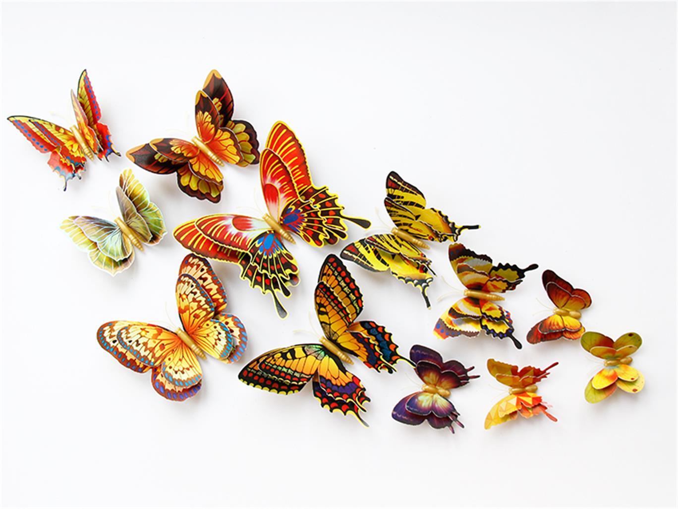 安徽仿真工艺品供应商 销量好的双层金色仿真蝴蝶出售