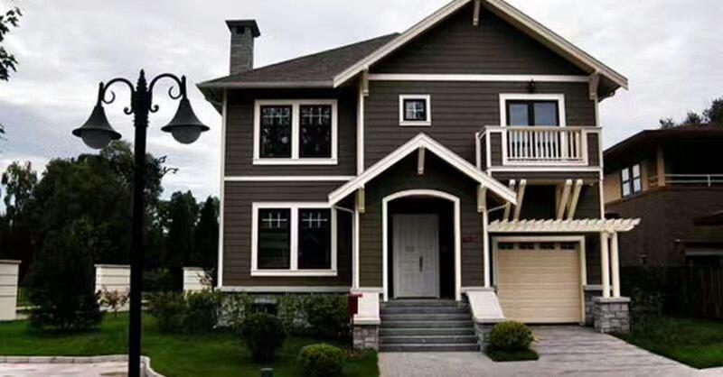 轻钢别墅设计,景观园林设计建筑,农村别墅建筑,空气源热泵供暖,为众多