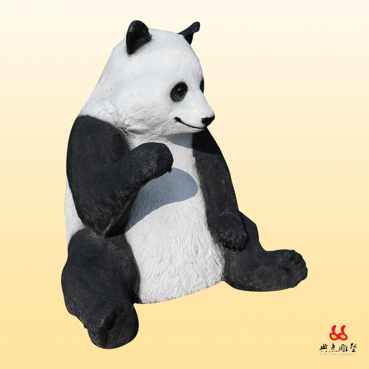 广州哪里可以做熊猫动物雕塑 仿真绿雕动物