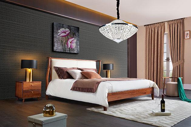 广东热销全实木床厂家直销 杭州实木床头价格