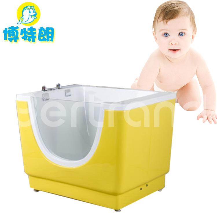 亚克力婴儿游泳池母婴店新生儿童泡泡单面玻璃冲浪浴缸