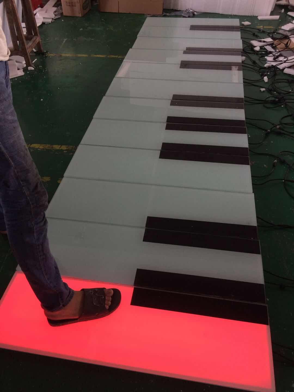 1000*300MM地板钢琴感应地砖灯七彩发光支持非标定制