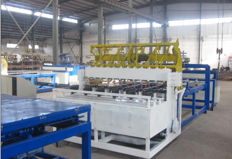 工廠隔離柵網排焊機 建筑鋼笆網片生產機械雙片鋼芭網設備