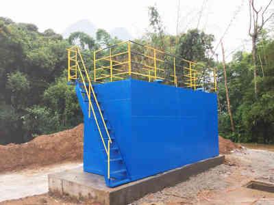 专利研发50吨/天集装箱式一体化塑料清理冲洗废水处理设备