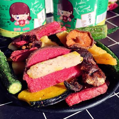 【米咔零食】新鲜蔬菜干太空蔬菜脆香菇脆75g罐装