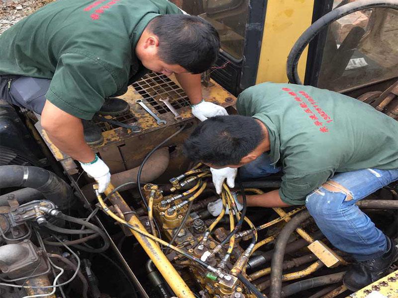 四川二手拆车件置换-广州好的挖掘机维修哪里有