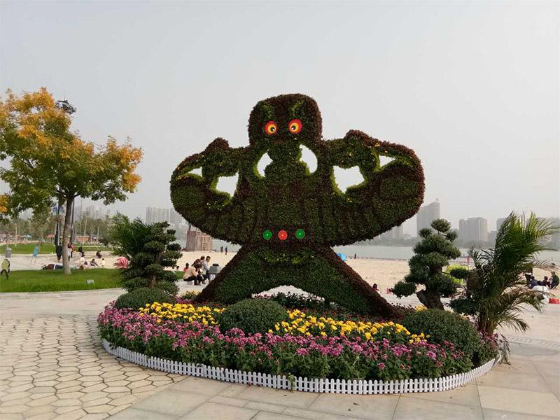 吉林五色草造型_质量好的五色草优选创叶园立体花坛