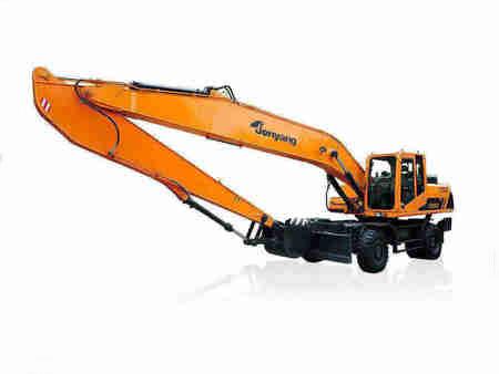 抓料机品质过硬-供应贵州价格合理的JY615E-N轮胎式液压挖掘机