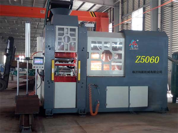 浙江全自动水平脱箱造型机-口碑好的Z5060型铸造造型机供应商_科新机械