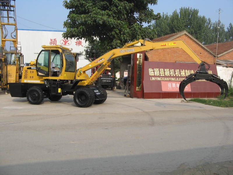 5ZC-600B1超高型单折臂回转抓头农用抓木抓草机