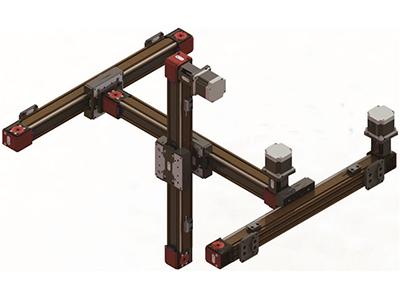 供应同步带双轴心十字滑台高速轻载悬臂导轨精密线性模组