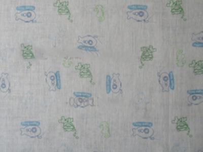 全棉单层印花纱布定制-南通直销全棉单层印花纱布