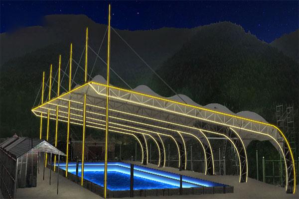 廣西可信賴的亮化工程公司_柳州游泳池亮化