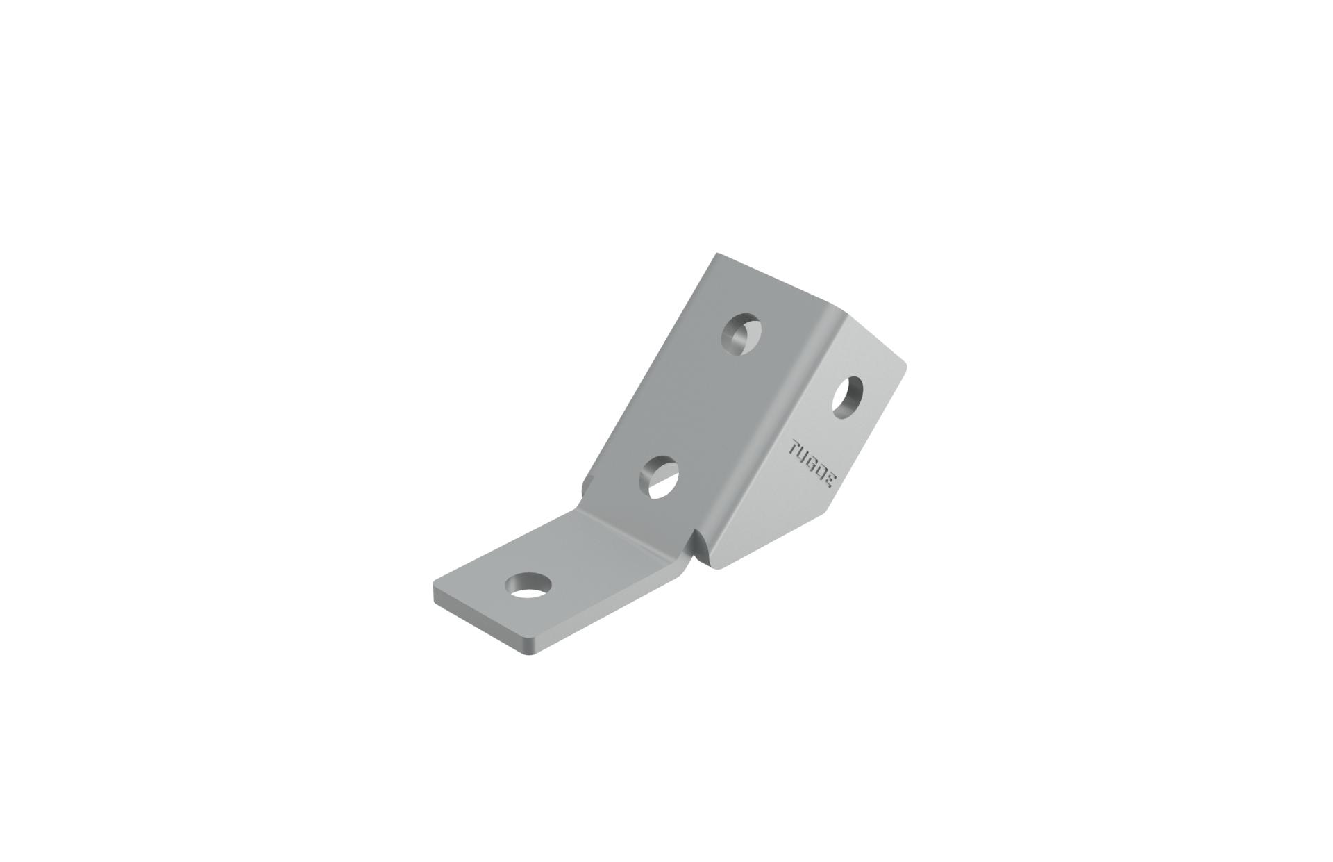 厂家供应建筑成品支架配件钢梁夹具直角连接件各类型号