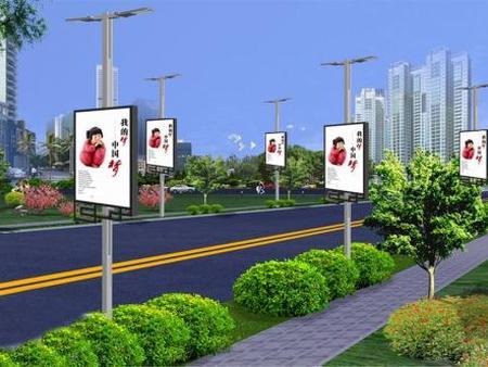 銀川齊全戶外高清燈桿屏供應|新品寧夏戶外高清燈桿屏