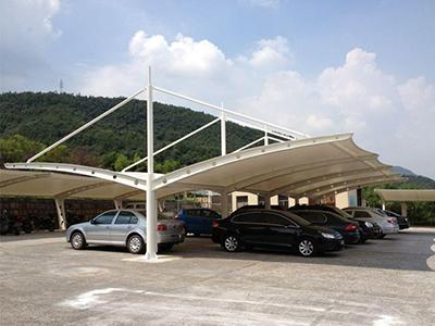 膜结构停车棚膜结构汽车棚张拉膜结构膜结构车棚加工安装