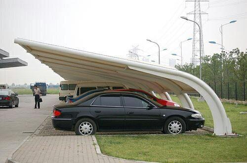 厂家承接膜结构停车棚工程汽车停车棚户外张拉膜结构汽车停车棚