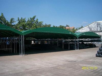 厂家直销推拉棚户外遮阳篷布批发加工安装膜结构自行车棚