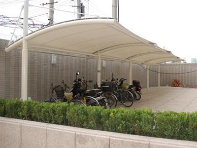 膜结构自行车停车棚膜结构汽车停车篷别墅景观汽车车棚