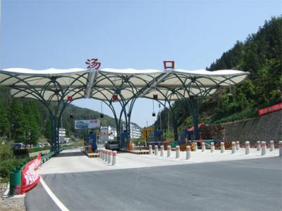 厂家定做膜结构交通棚收费站雨棚膜结构大门出入口雨篷工程