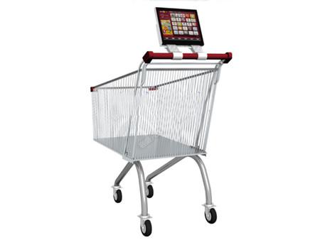 超市手推车广告机认准容盛兴达科技 质量好的超市手推车广告机