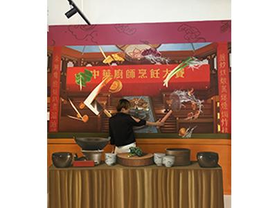 电视背景墙墙绘 声誉好的广东文化墙定制公司