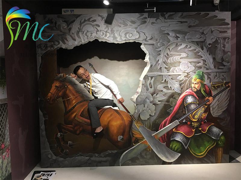 佛山沙發背景墻油畫施工-買酒店配畫到尚美誠壁畫