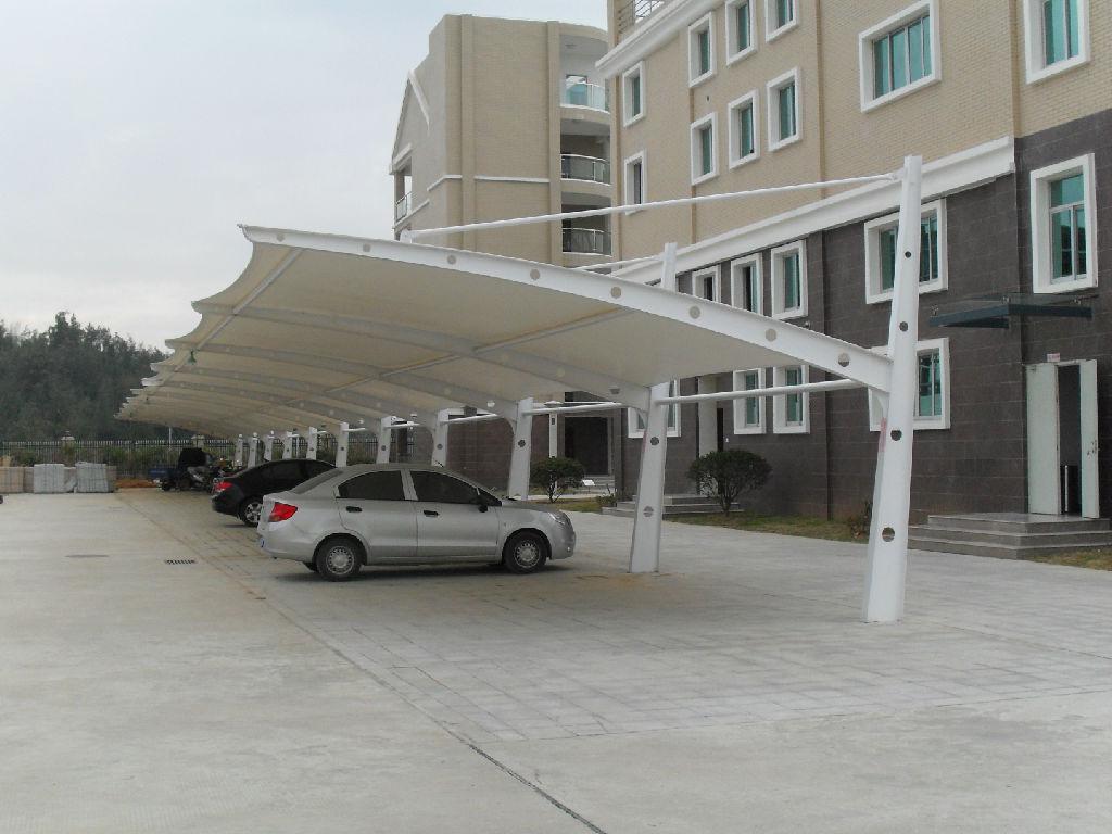 膜结构停车棚低价甩卖-上海市膜结构停车棚造价