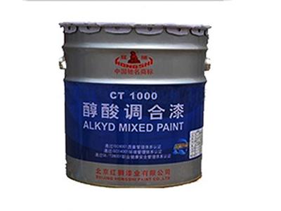 红狮醇酸调合漆防腐漆耐腐蚀涂料调和漆红狮油漆