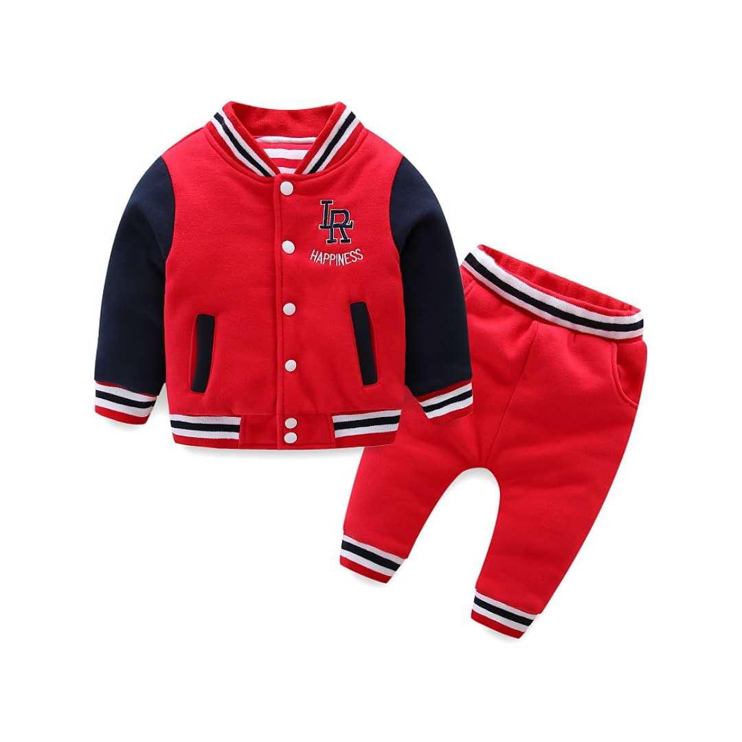 2018韩版男童棒球棉衣套装两件套儿童套装