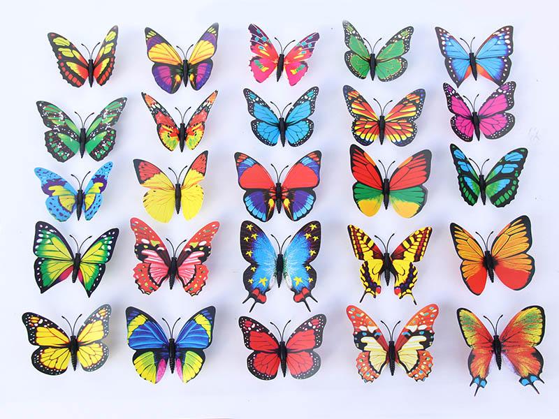 浙江仿真蝴蝶装饰 专业的PT9公分蝴蝶提供商—温州金蝴蝶工艺品