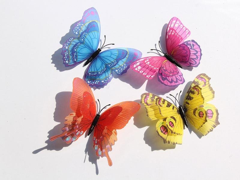 温州新品满天星10厘米双层蝴蝶供销-闪光蝴蝶价格范围