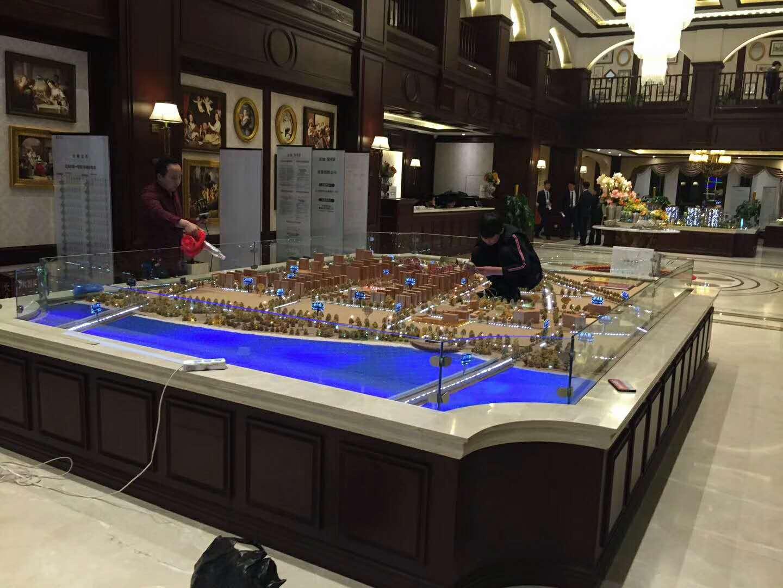 沙盘 制作——烟台建筑沙盘模型