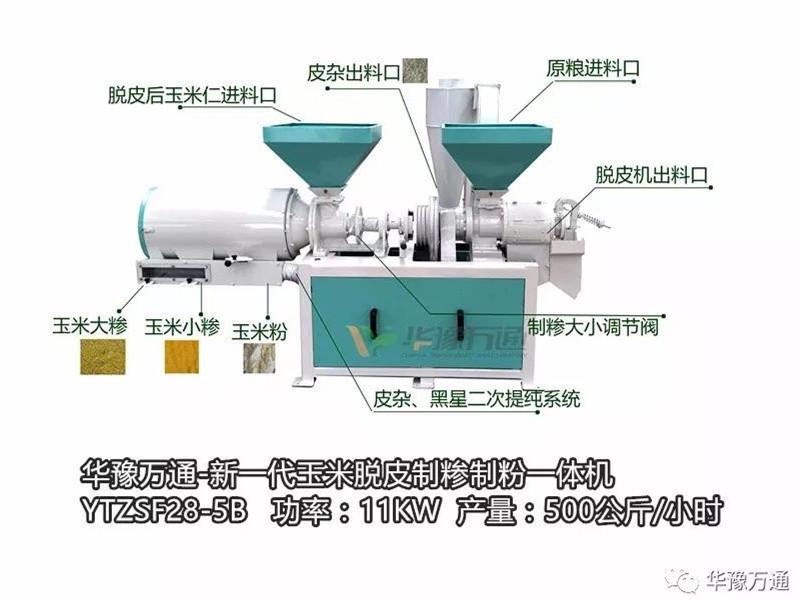玉米加工小作坊的选择——YTZSF28-5B玉米脱皮制糝机