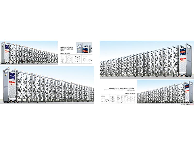 合肥铝合金电动伸缩门安装 为您推荐合肥金威有品质的不锈钢电动伸缩门